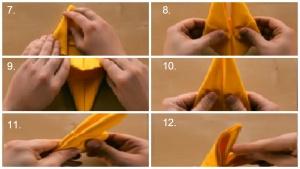 servietten falten osterhase