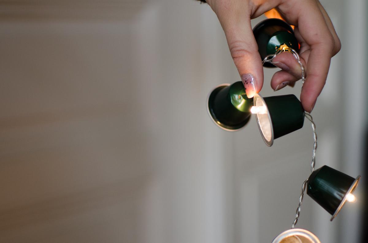 Weihnachtsdeko Kaffeekapseln