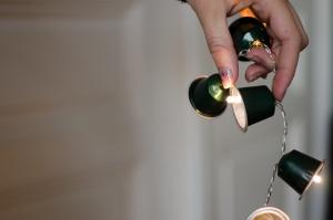 Kaffeekapseln Lichterkette