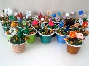 Kaffeekapseln DIY Blumen