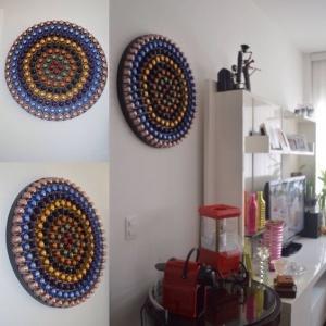 Kaffeekapseln DIY Kunstwerk
