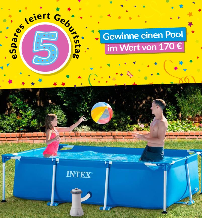 Gewinne einen Swimmingpool!