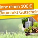 Gewinnspiel: Gewinne einen 100 € Globus Baumarkt Gutschein!